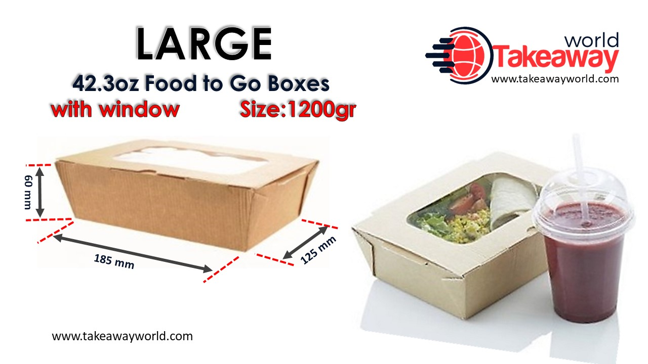 Large Food Box - With Window